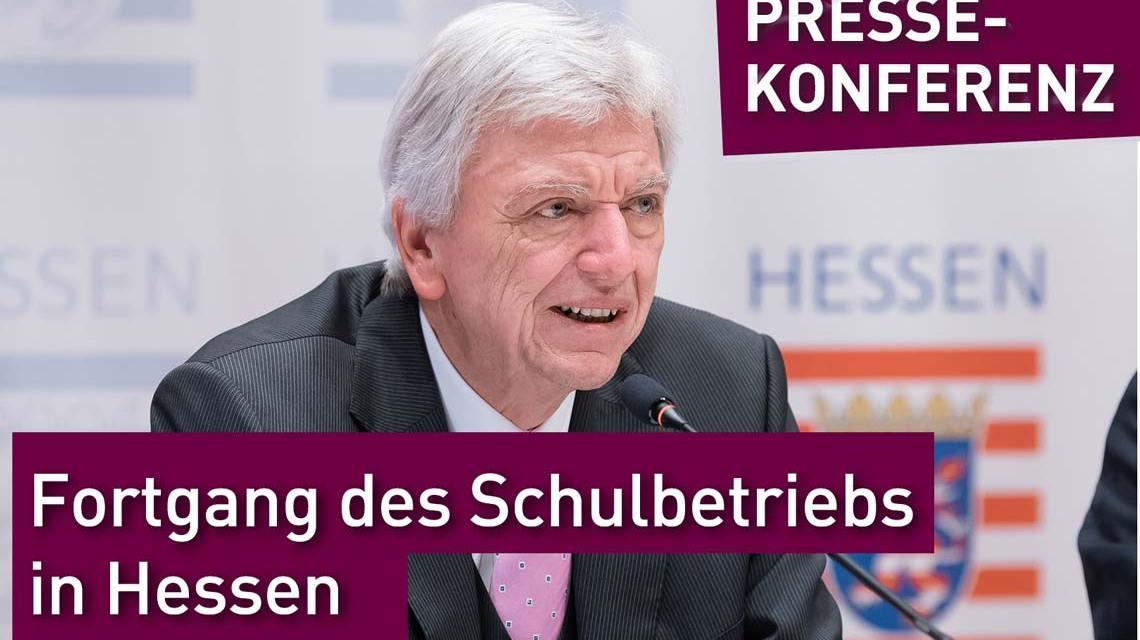 Ministerpräsident Volker Bouffier und Kultusminister Alexander Lorz zum Fortgang des Betriebs in der Schule nach den Ferien
