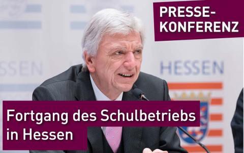 Ministerpräsident Volker Bouffier und Kultusminister Alexander Lorz zum Fortgang des Schulbetriebs nach den Ferien