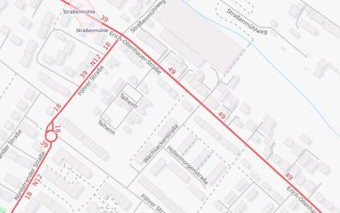 Sperrungen, Straße Talheim, Kanalarbeiten