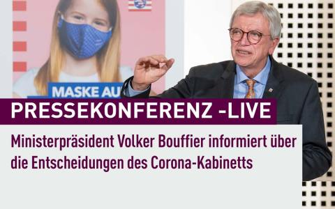 Live Pressebonferenz Volker Bouffier