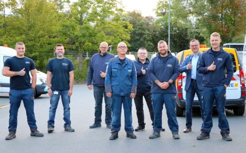 ESWE-Team für eine Woche im Hochwassergebiet