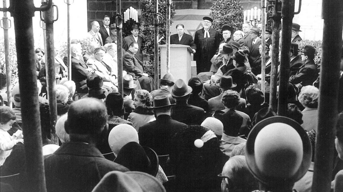 Jüdische Gemeinde Wiesbaden: Grundsteinlegung am 4. April 1965