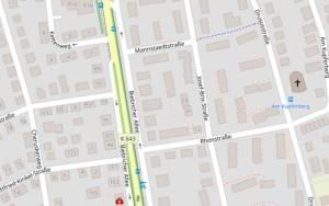 Karte: Josef Brix Straße in Wiesbaden Biebrich