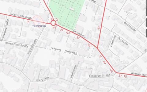 Vollsperrung der Oberpfortstraße in Nordenstadt