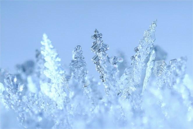 Winzige Eiskristalle