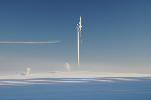 Das Windrad stand im Frost