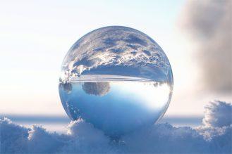 Zauberkugel im Schnee