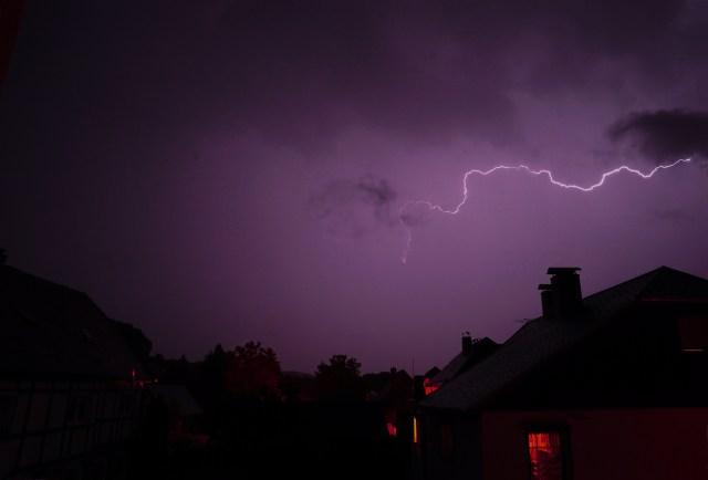 Gewitter über Schönbach