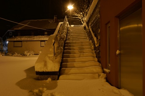 eingeschneite Treppe, Schönbach
