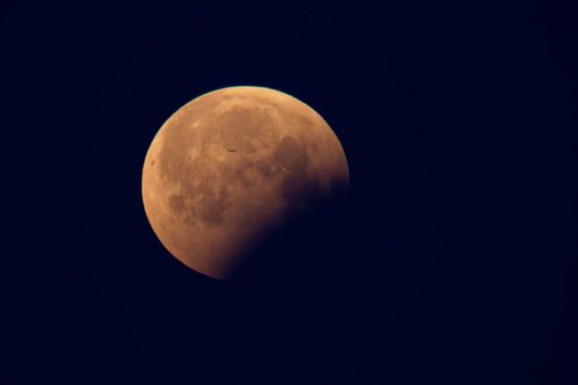 Mond mit Schatten
