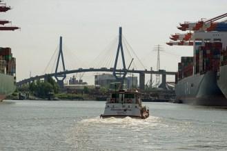 Hafenrundfahrt HH, Mai 2019 mit Köhlbrandbrücke