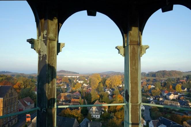 Blick durch die Turmspitze