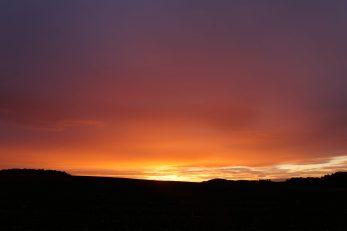 Sonnenaufgang 1.10.2019 Schönbach 3, Sonne und Regen