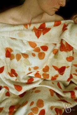 blanket wool 'leaves impression'