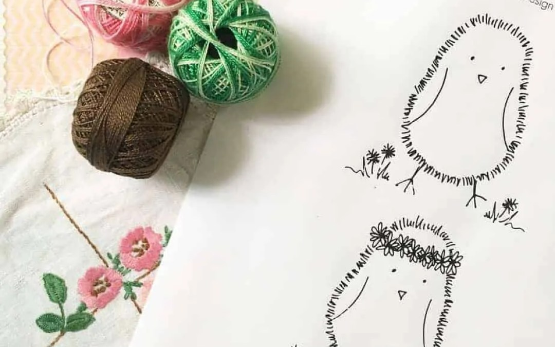 Little Easter Chickens   Free embroidery pattern