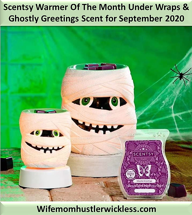 Scentsy Warmer Of The Month Under Wraps & Ghostly Greetings Scent for September 2020