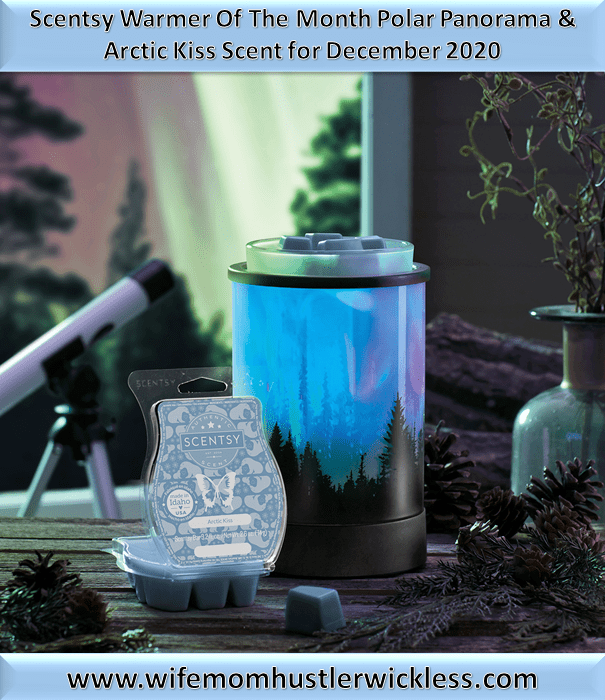 Scentsy Warmer Of The Month Polar Panorama & Arctic Kiss Scent for December 2020