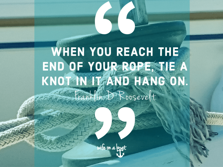 Boat Quote - Hanging On