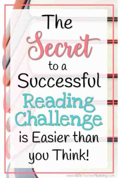 The Secret to a Successful Reading Challenge is Easier than you Think! Learn how to run a successful reading challenge in your classroom or homeschool in this post.