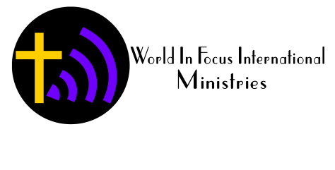 World In Focus International Ministries on side of logo