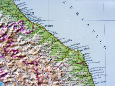 Cartina geografica delle Marche