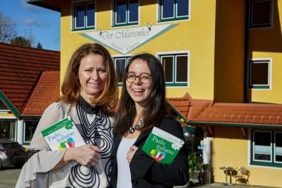 Angela Köldorfer Teuschler,Francesca Amone, Testimonial, Wifi Steiermark, Italienisch Kurs