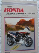 Honda 700- 1000cc Interceptor 1983-1985 Clymer Service & Repair Manual
