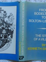 Dust wrapper  From Bodeltone to Bolton-le-Sands: The Story of a Village By Kenneth Entwistle