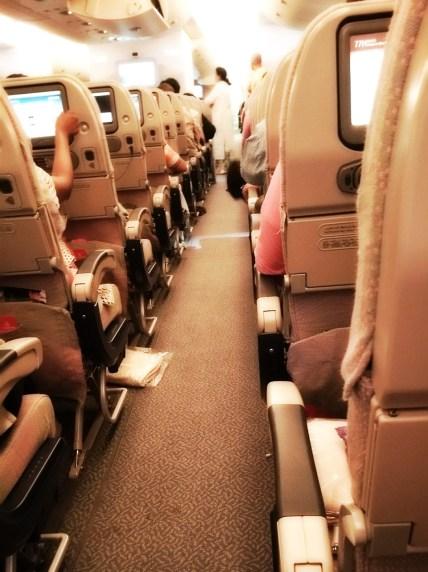 Emirate Airlines Airbus 380 Economy class interior