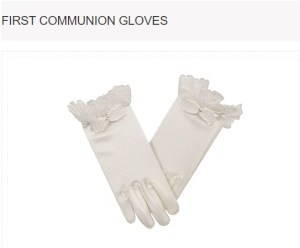 Lace Trims Bow Short Satin First Communion Gloves MODEL: G4150B $18.98 Click to Buy