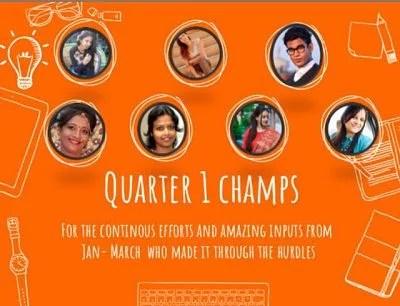FBB 1st Quater blogstar Champ