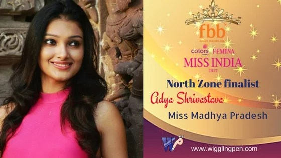 "Adya Shrivastava Miss Madhya Pradesh North Zone Finalist for""Miss India 2017″"