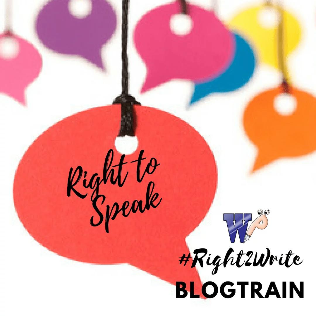 Right to speak- Value it!!
