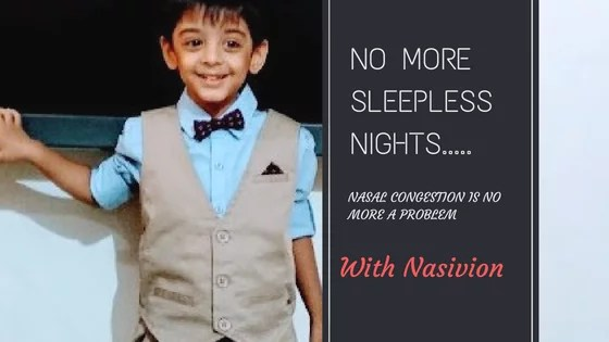No more sleepless nights, Nasal Congestion is no more a problem