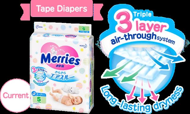 Merries Baby Diaper