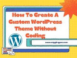 Create Custom WordPress Theme