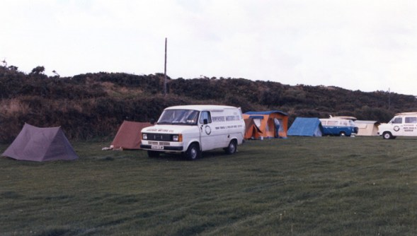 IOW Surf Club camping at Morte Hoe