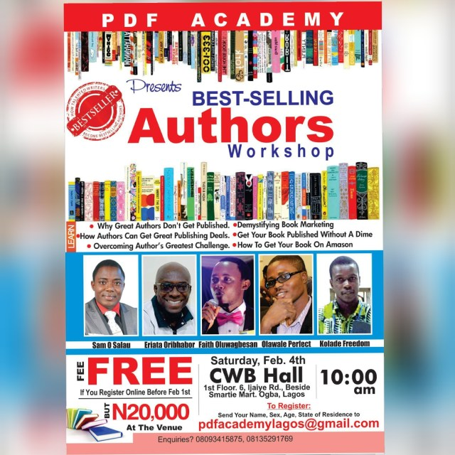Best-Selling Author Workshop