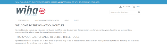 Wiha Tool Guide - Tools Outlet Header
