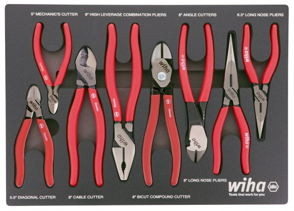 Modular Foam Tray Sets with Cushion Grip Pliers from Wiha Tools