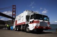 CNG Fueled Garbage Truck at the Golden Gate Bridge