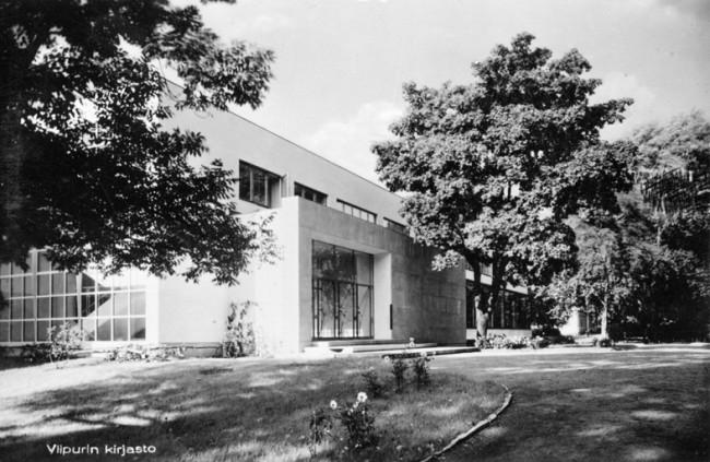 Viipurin kirjasto rakennettiin Maria Lallukan testamentoimilla varoilla. Arkkitehtinä toimi Alvar Aalto. Lappeenrannan museot. (CC BY 4.0)