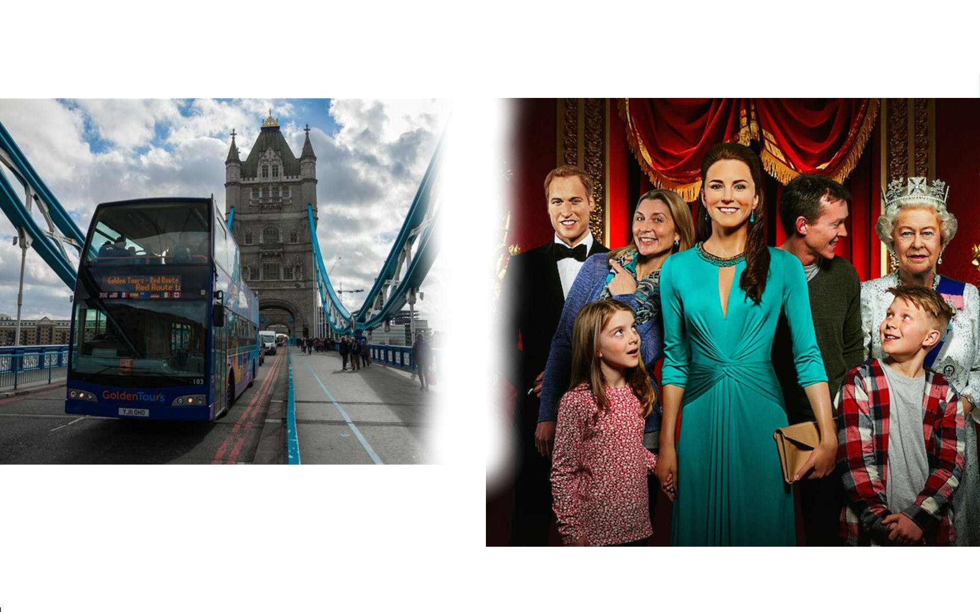 24-hour hop-on hop-off London bus tour with Madame Tussauds