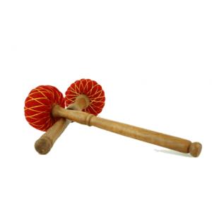 Klankschalen viltklopper M houten steel - Hout - Vilt - M