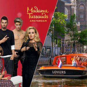 Madame Tussauds Amsterdam fast-track ticket and one-hour canal cruise