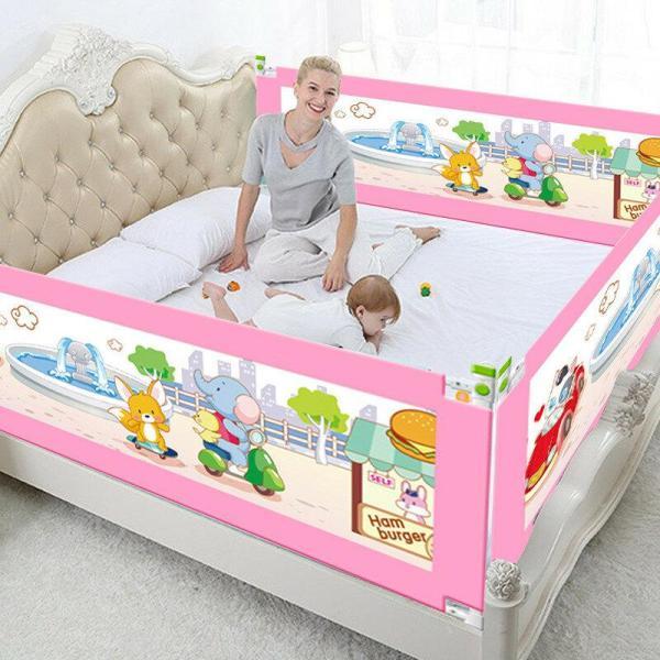 5 In hoogte verstelbaar Hek voor babybed Veiligheidshek Kinderbarrière voor bedden Wiegrail Beveiliging Kinderbox