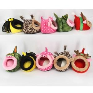 Mooie Mini giraffen vorm cavia huisdier bedden comfortabele Spider Hamster Cotton huisdier House maat: S 19 * 17 * 13 cm willekeurige kleur en sti