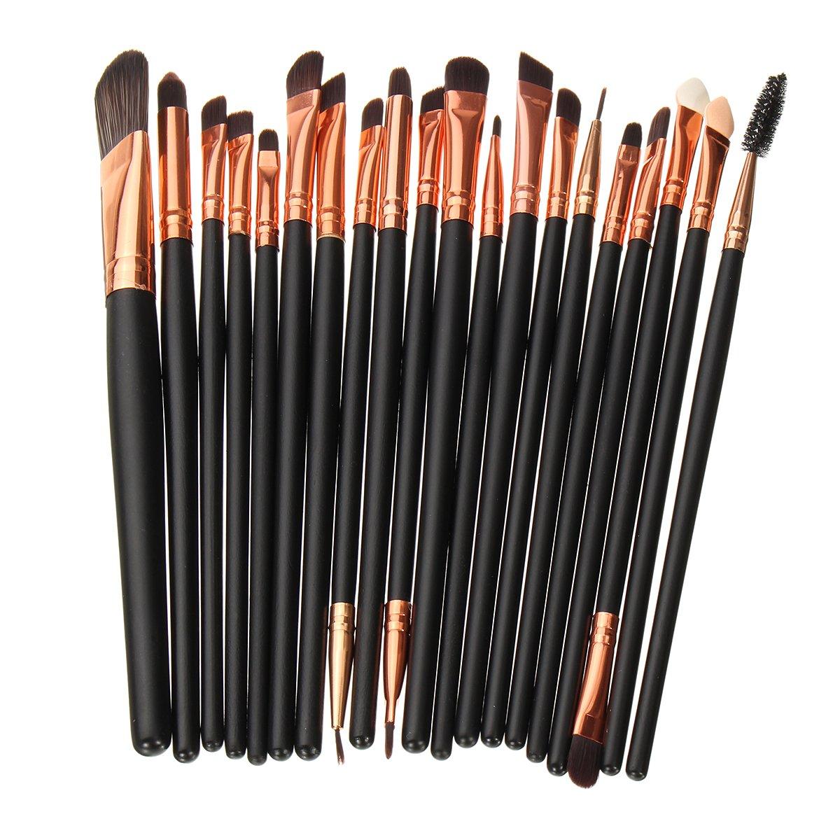 20pcs Make-upborstels Set Poeder Oogschaduw Eyeliner Lip Cosmetic Borstelgereedschap