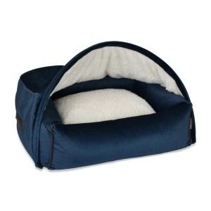 Hondenmand Snuggle Cave Bed Blue Velvet