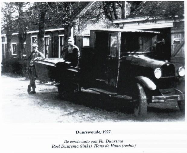 HF Duerswald Durk eerste auto 1927 duursma